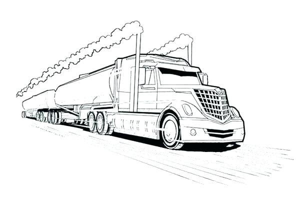 600x426 Wonderful Coloring Pages Of Trucks
