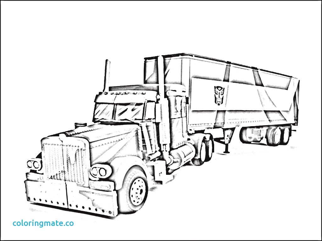 1024x768 Best Optimus Prime Truck Coloring Page Images