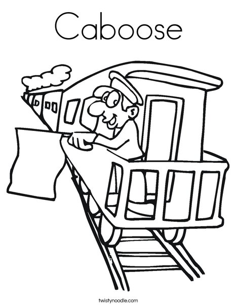 Train Caboose Coloring Pages