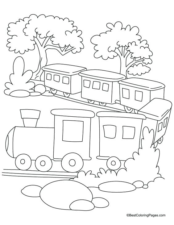 564x729 Free Train Coloring Pages Adult Coloring A Train Coloring Page
