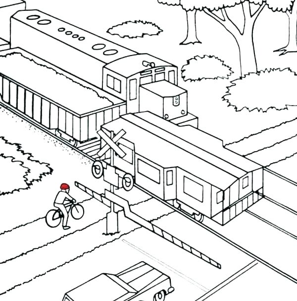 600x607 Freight Train Coloring Pages Color Fresh Freight Train Coloring