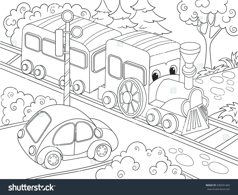 1500x1225 Printable Cars Coloring Pages Pixar Cartoon Train Car Book Stock