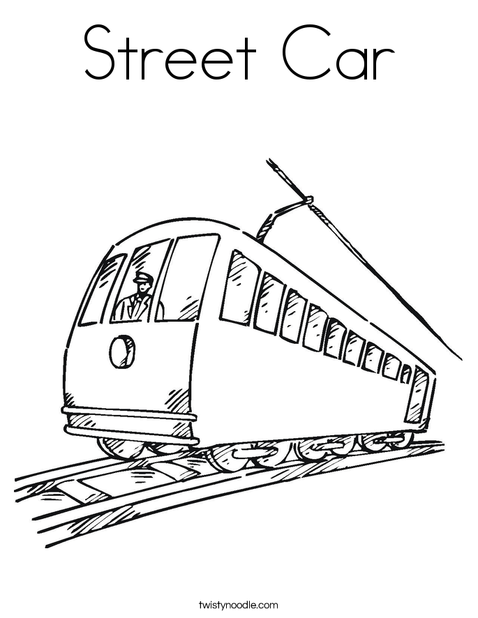 685x886 Street Car Coloring Page