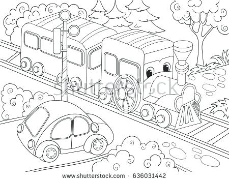 450x358 Bullet Train Coloring Pages Printable Cartoon Train Train Car
