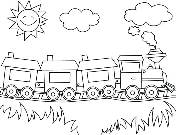 600x461 Train For Coloring Steam Locomotive Train Online Coloring Page