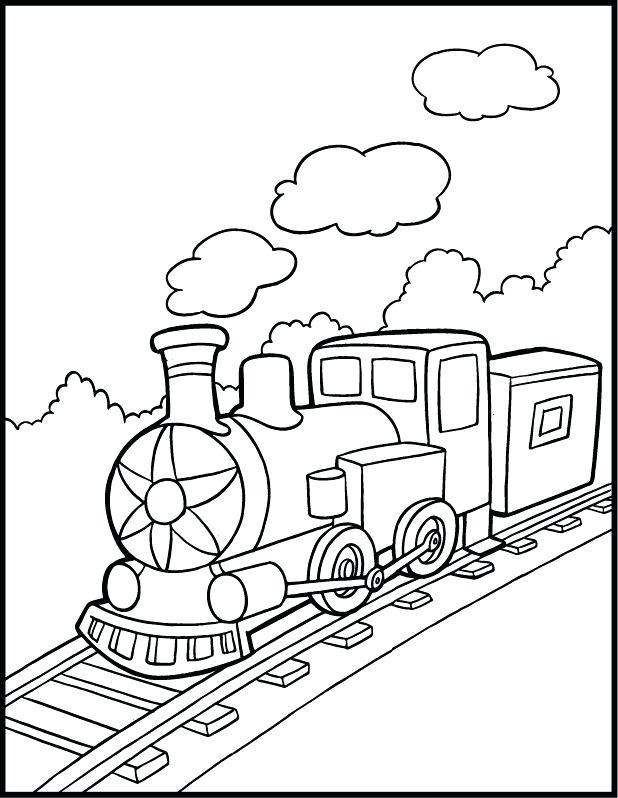 618x798 Steam Engine Coloring Pages The Train Color Page Steam Engine
