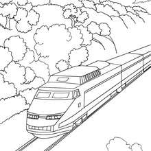 220x220 Train Coloring Pages
