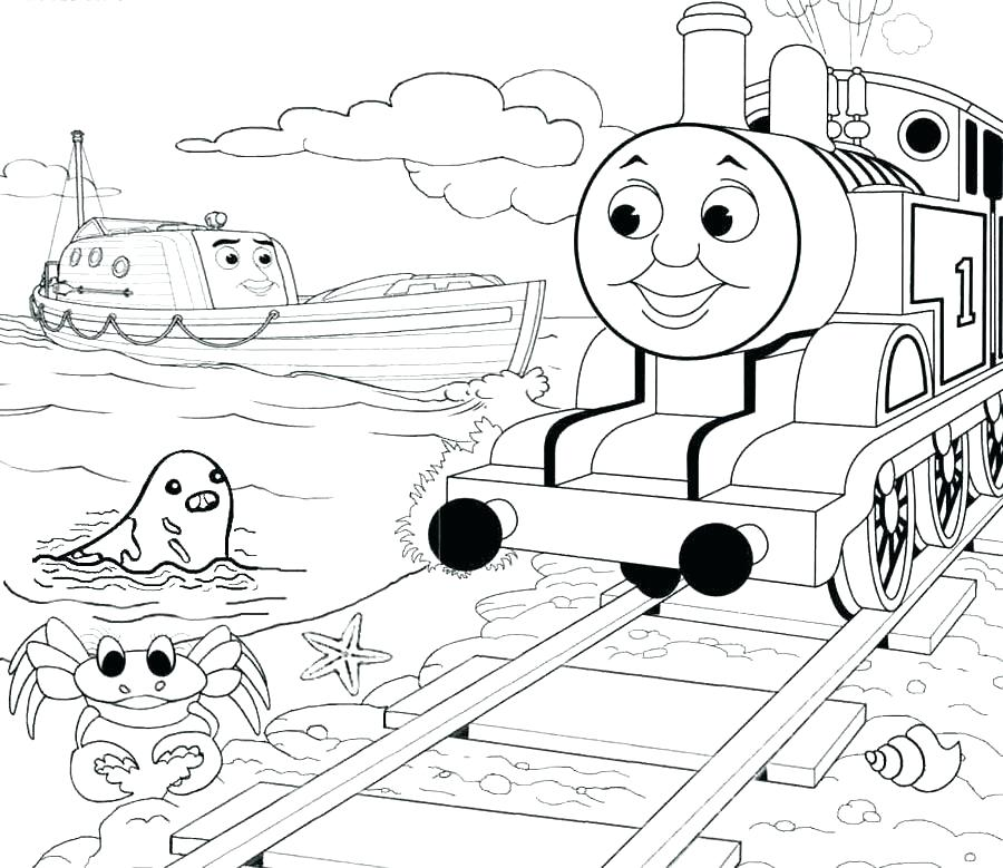 900x779 Thomas The Train Coloring Pages