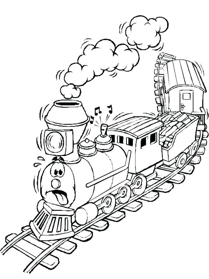 718x957 Freight Train Coloring Pages