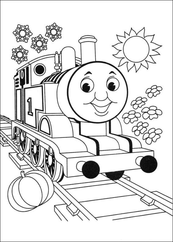 600x840 Thomas The Train Coloring Pages Printable Sheet Free Download