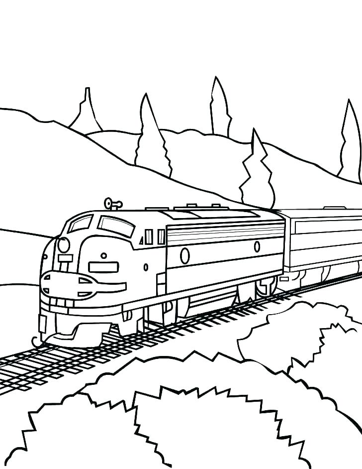 728x942 Freight Train Coloring Pages Free Train Coloring Pages Freight