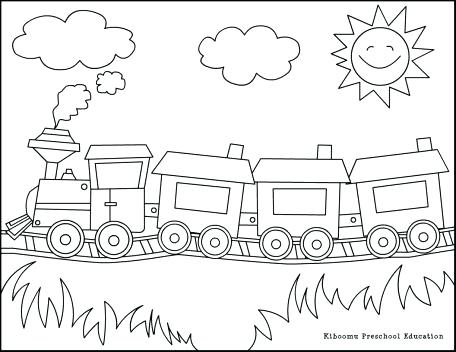 456x352 Freight Train Coloring Pages Train Coloring Pages Kids Coloring