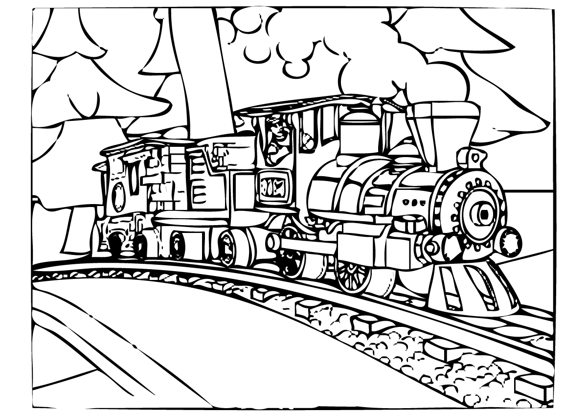1200x848 Polar Express Train Coloring Pages Printable