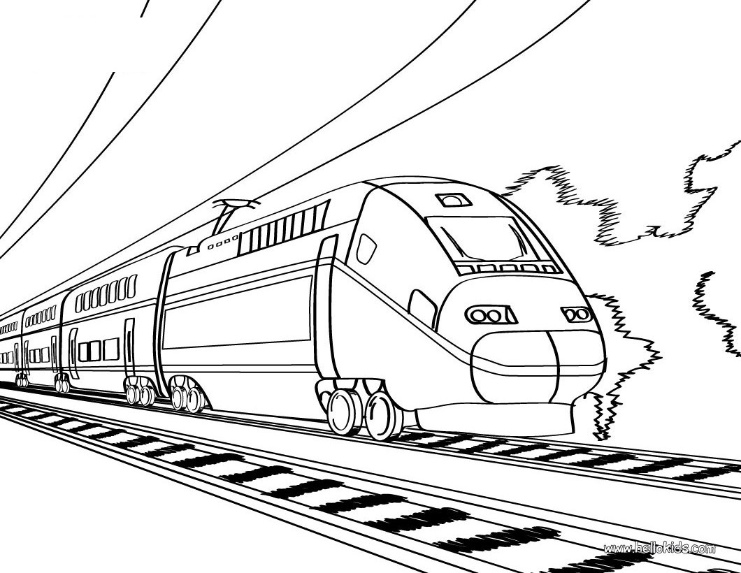 1060x820 Printable Train Coloring Pages For Kids