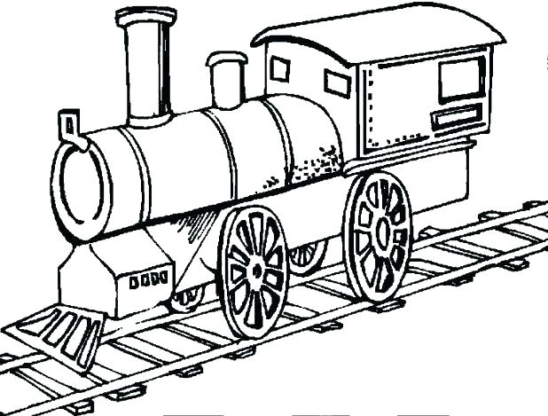 618x469 Printable Train Coloring Pages