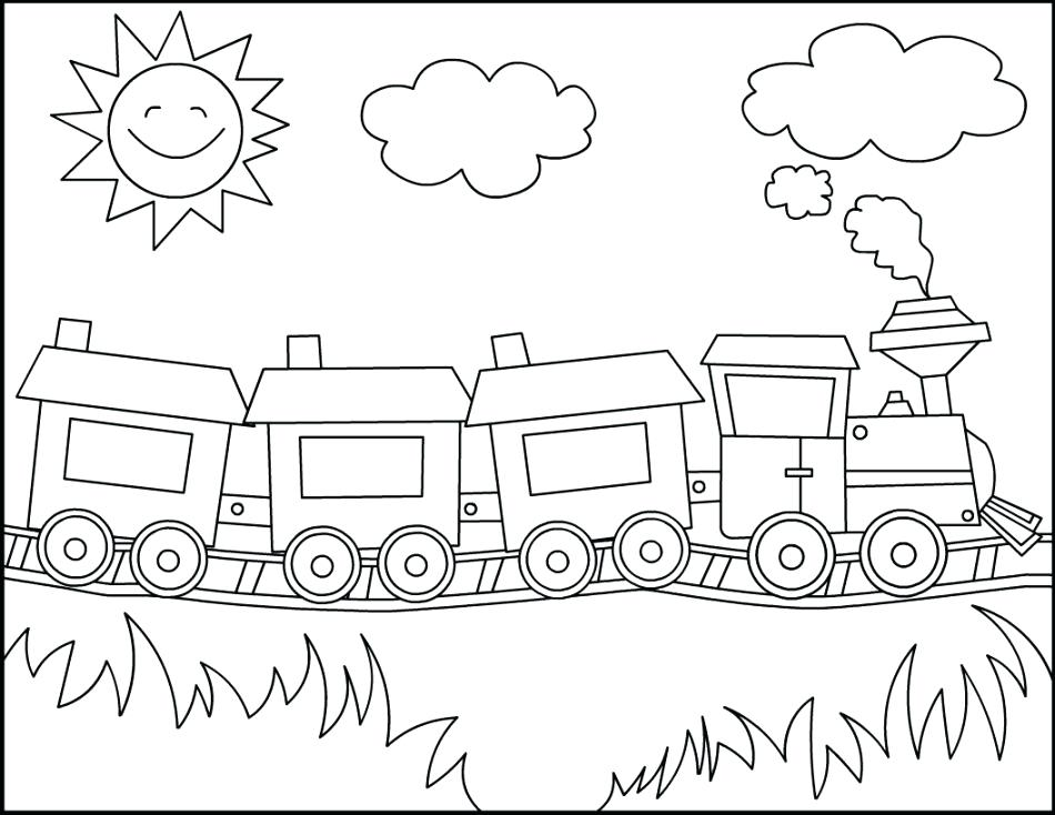 950x734 Coloring Pages Of Trains Coloring Pages Trains Coloring Train