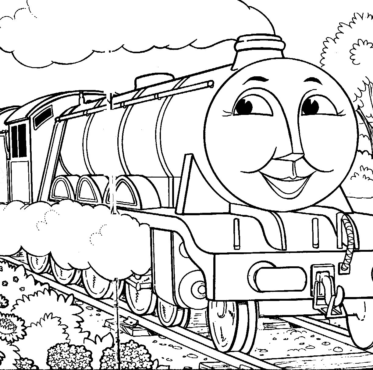 1224x1217 Coloring Pages Trainsmmonpence Train For Kids Caboose Printable