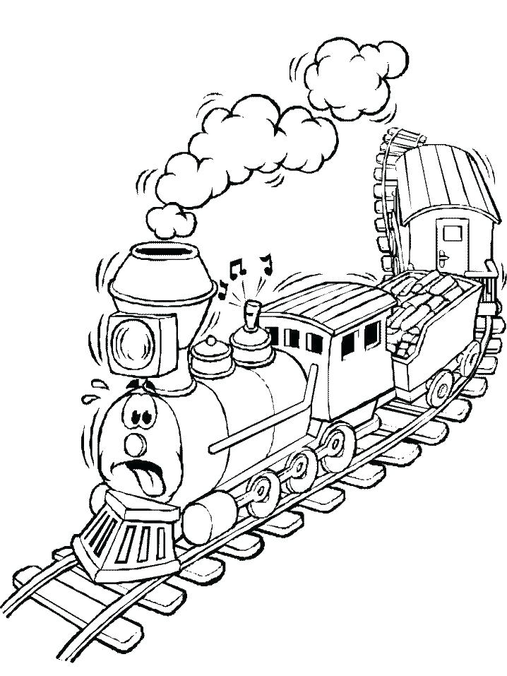 718x957 Free Printable Train Coloring Pages