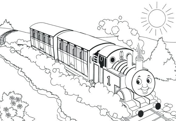 580x400 The Train Coloring Pages For Free Print Kids Preschool Murs