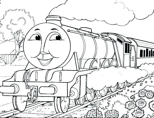 500x385 Train Coloring Pages Free Printable The Train Coloring Pages Train