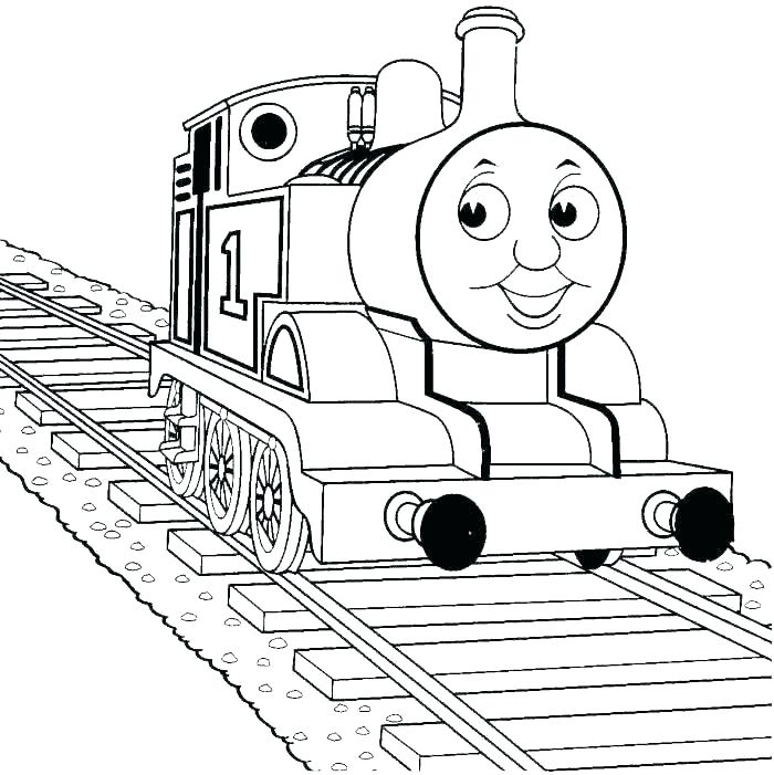 700x701 Coloring Page Of A Train
