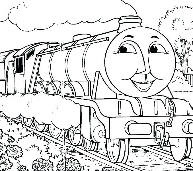678x600 Thomas The Train Coloring Pages Free Printables Train Coloring