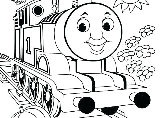 570x409 Thomas Train Coloring Page The Train Coloring Pages The Train