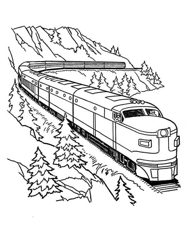 600x734 Train Coloring Pages For Free Download