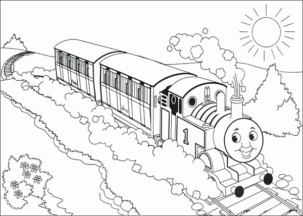 600x428 Train Coloring Pages For Toddlers Luxury Thomas The Train Coloring