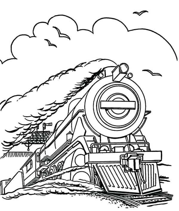 600x708 Train Coloring Pages Steam Train Run In Speed Coloring Page Train