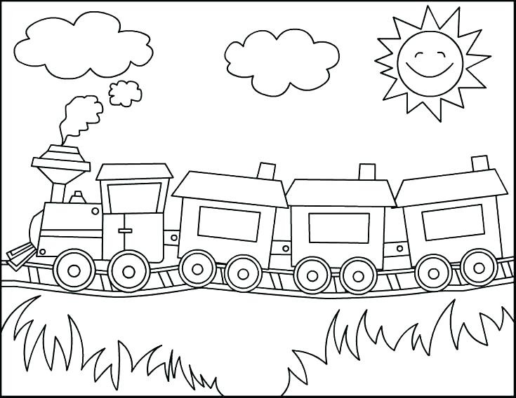 735x568 Free Printable Train Coloring Pages Train Coloring Page Train