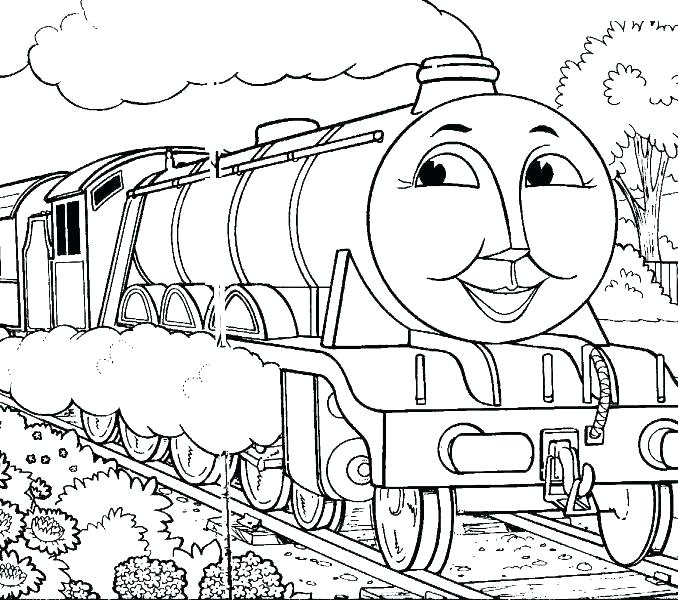 678x600 Thomas The Train Coloring Pages Printable The Train Coloring Pages