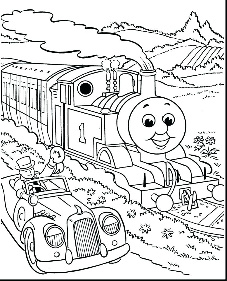 777x960 Thomas The Train Coloring Pages The Train Coloring Free The Train