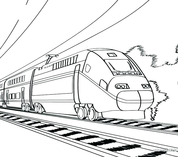 678x600 Freight Train Coloring Pages