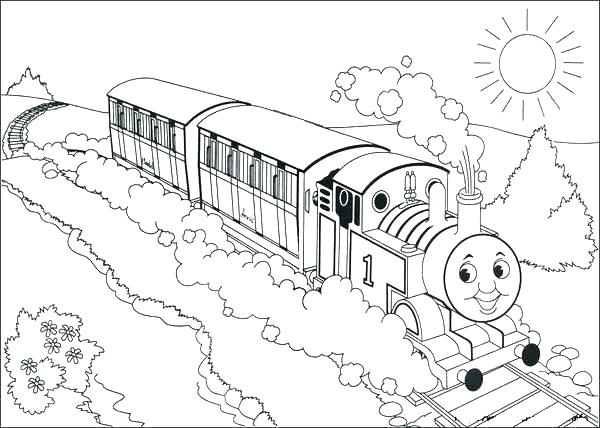600x428 Train Coloring Pages