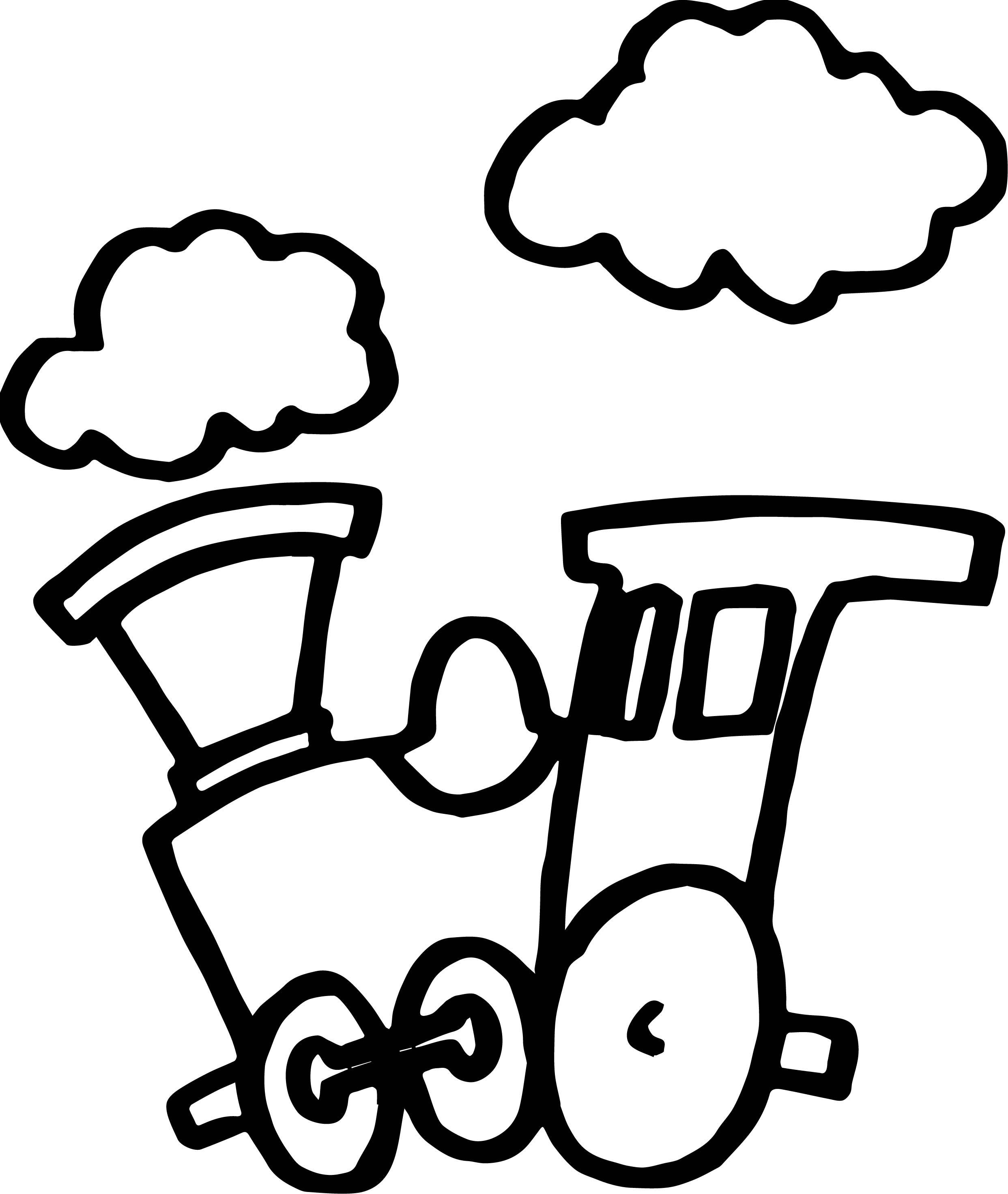 2485x2943 The Best Train Cloud Coloring Page Wecoloringpage Picture
