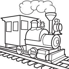 Train Engine Coloring Page