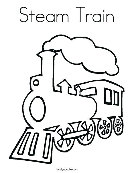 468x605 Steam Train Coloring Page Twisty Noodle Steam Train Coloring Page