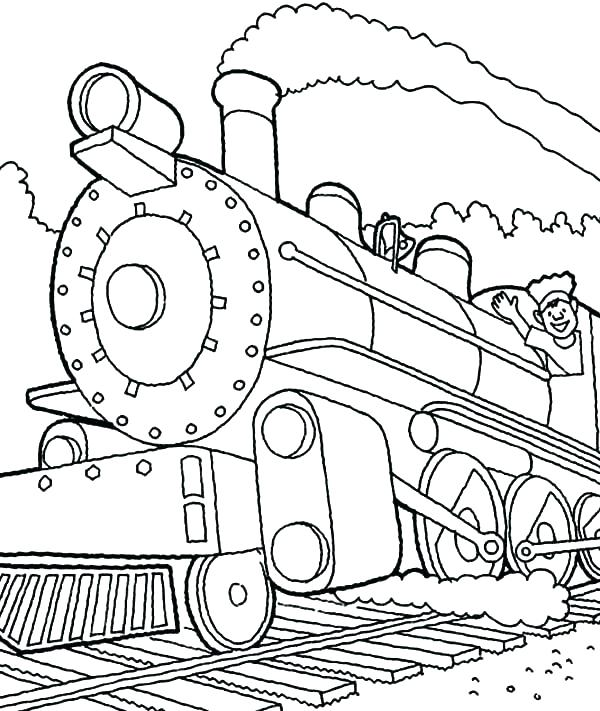 600x711 Steam Train Coloring Pages Steam Train Coloring Pages Train Engine
