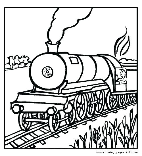500x550 Train Color Pages Steam Train Coloring Pages Train Coloring Page