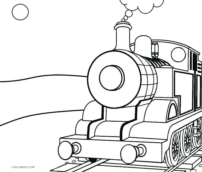 670x571 Train Engine Coloring Page Locomotive Train Car Thomas The Train