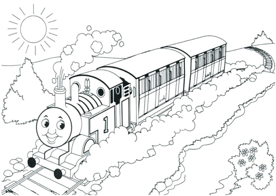 960x683 Train Engine Coloring Page Steam Engine Pictures To Print Train