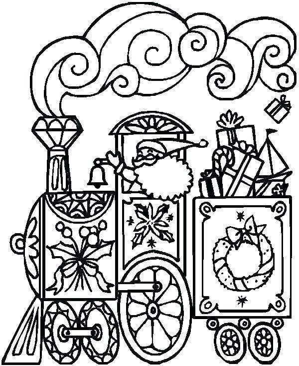 600x733 Train Engine Coloring Page