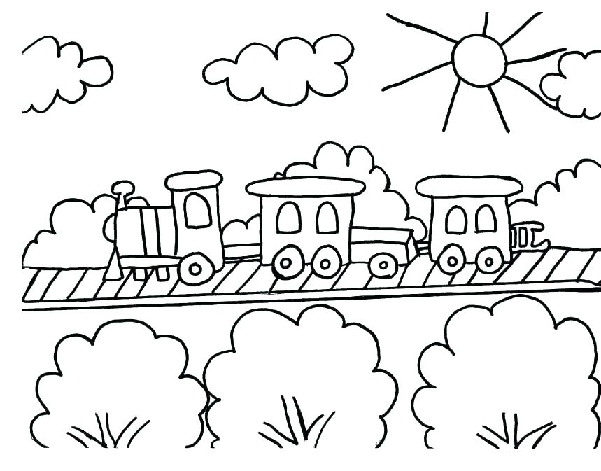 859x673 Train Color Pages Train Coloring Pages Ideal Train Coloring Pages