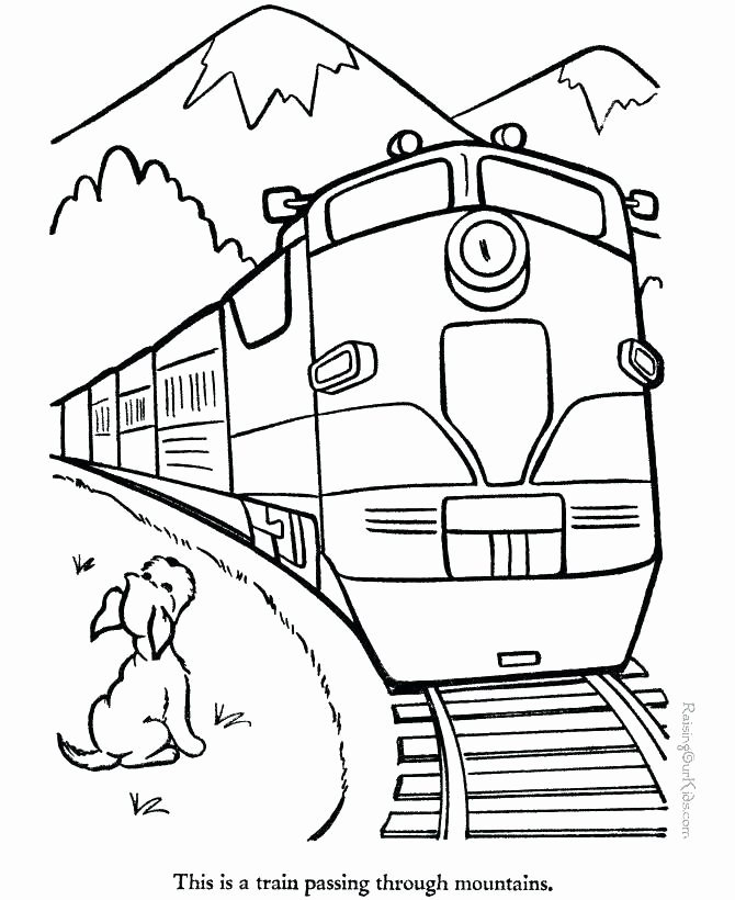 Train Track Coloring Page