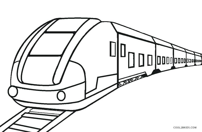 850x556 Free Printable Train Coloring Pages For Kids Train Tracks Coloring