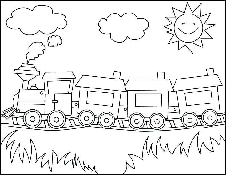 735x568 High Speed Train Coloring Pages High Speed Train Colouring Pages