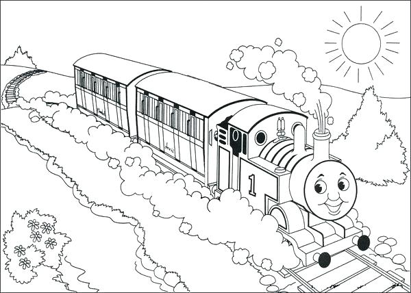 600x428 Thomas The Train Coloring Pages Printable Train Sheet Music Kids