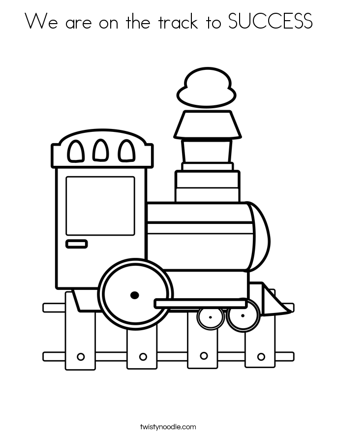 685x886 We Are On The Track To Success Coloring Page