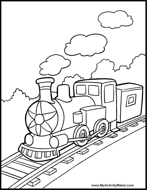 618x798 Best Train Coloring Pages Images On Train Coloring
